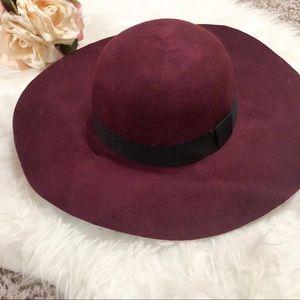 Red felt Aerie hat